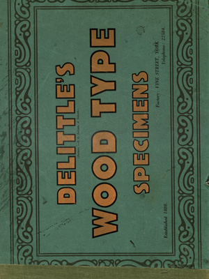 Delittles Wood Letter Specimens The Type Library